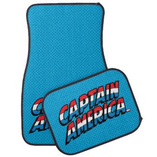Captain America Name Logo Car Mat