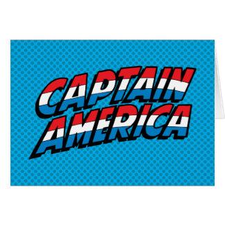 Captain America Name Logo Card