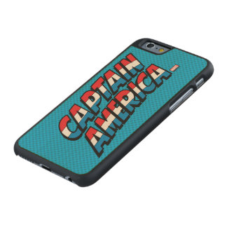 Captain America Name Logo Carved Maple iPhone 6 Case
