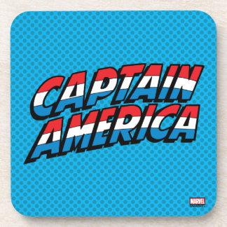 Captain America Name Logo Coaster