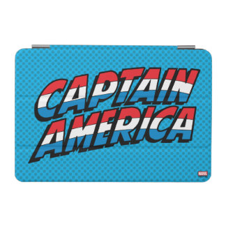 Captain America Name Logo iPad Mini Cover