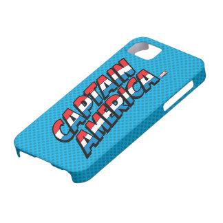 Captain America Name Logo iPhone 5 Case