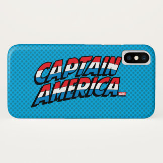 Captain America Name Logo iPhone X Case