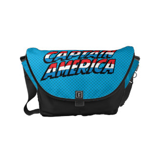 Captain America Name Logo Messenger Bag