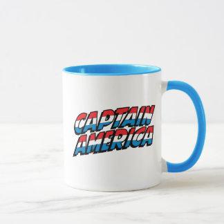 Captain America Name Logo Mug