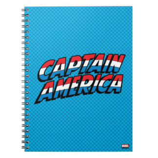 Captain America Name Logo Note Books