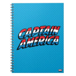 Captain America Name Logo Notebooks