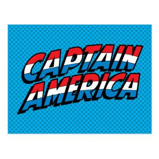 Captain America Name Logo Postcard
