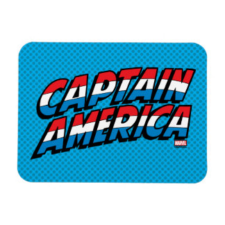 Captain America Name Logo Rectangular Photo Magnet