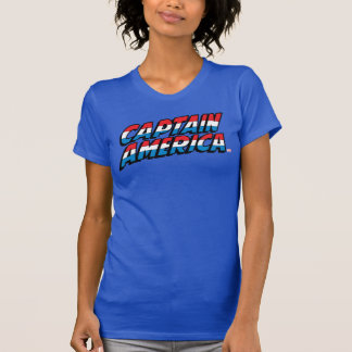 Captain America Name Logo T-Shirt
