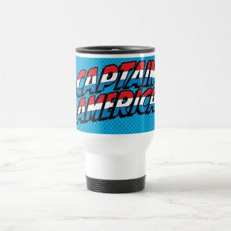 Captain America Name Logo Travel Mug