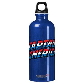 Captain America Name Logo Water Bottle