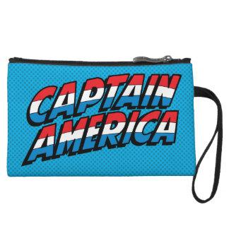 Captain America Name Logo Wristlet