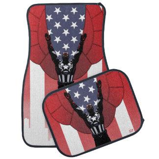 Captain America Patriotic City Graphic Car Mat