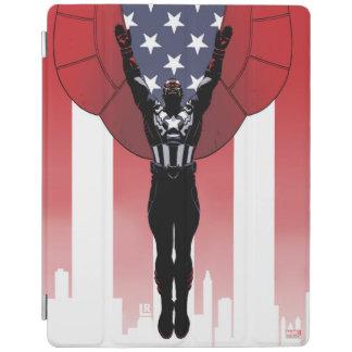 Captain America Patriotic City Graphic iPad Cover