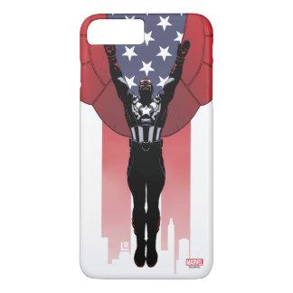 Captain America Patriotic City Graphic iPhone 8 Plus/7 Plus Case