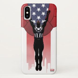 Captain America Patriotic City Graphic iPhone X Case