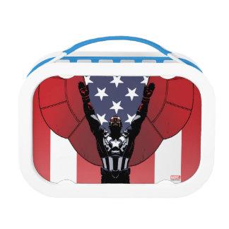 Captain America Patriotic City Graphic Lunch Box