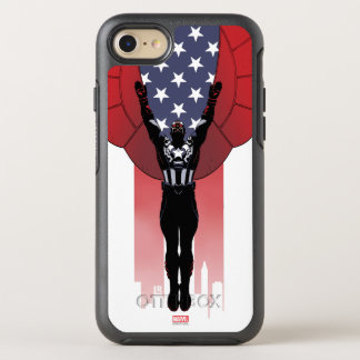 Captain America Patriotic City Graphic OtterBox Symmetry iPhone 8/7 Case