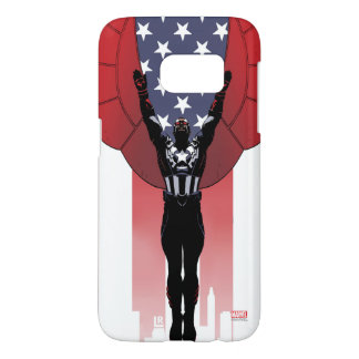 Captain America Patriotic City Graphic Samsung Galaxy S7 Case