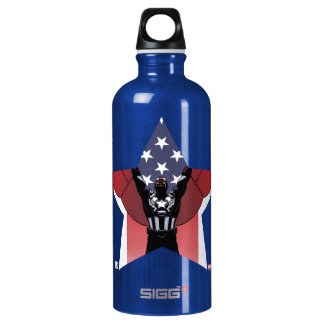 Captain America Patriotic City Graphic Water Bottle
