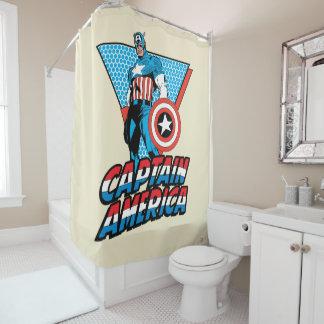 Captain America Retro Character Graphic