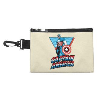 Captain America Retro Character Graphic Accessory Bag