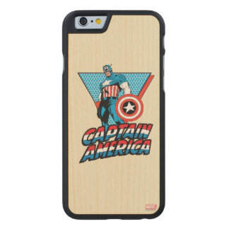 Captain America Retro Character Graphic Carved® Maple iPhone 6 Case