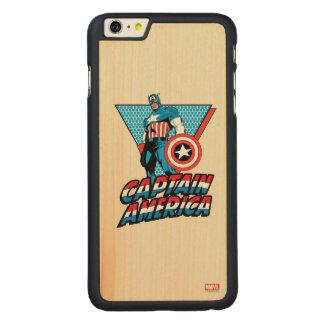 Captain America Retro Character Graphic Carved® Maple iPhone 6 Plus Case