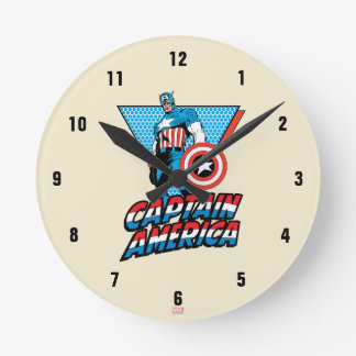 Captain America Retro Character Graphic Clocks