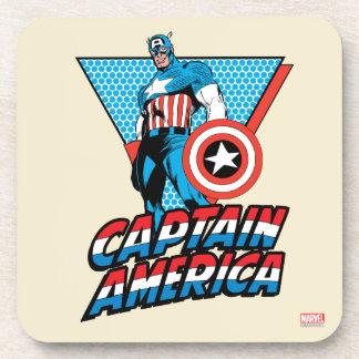 Captain America Retro Character Graphic Coaster