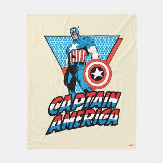 Captain America Retro Character Graphic Fleece Blanket