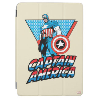 Captain America Retro Character Graphic iPad Air Cover