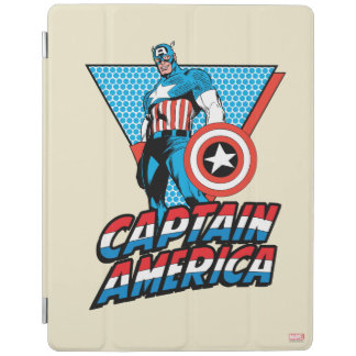 Captain America Retro Character Graphic iPad Cover