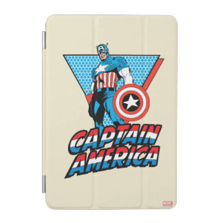 Captain America Retro Character Graphic iPad Mini Cover