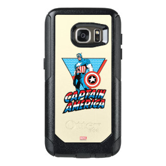 Captain America Retro Character Graphic OtterBox Samsung Galaxy S7 Case
