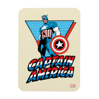 Captain America Retro Character Graphic Rectangular Photo Magnet