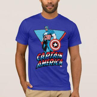 Captain America Retro Character Graphic T-Shirt