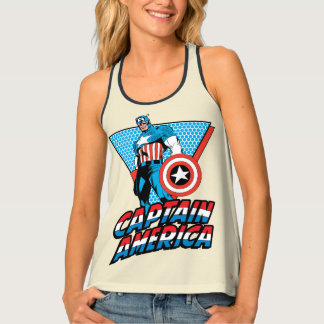 Captain America Retro Character Graphic Tank Top