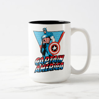 Captain America Retro Character Graphic Two-Tone Coffee Mug