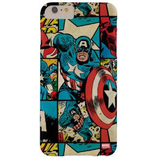 Captain America Retro Comic Book Pattern Barely There iPhone 6 Plus Case