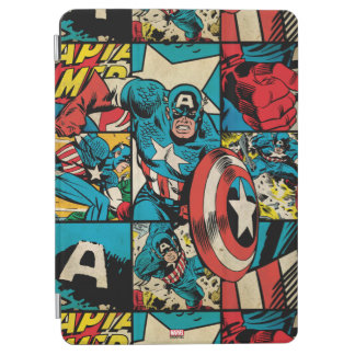 Captain America Retro Comic Book Pattern iPad Air Cover