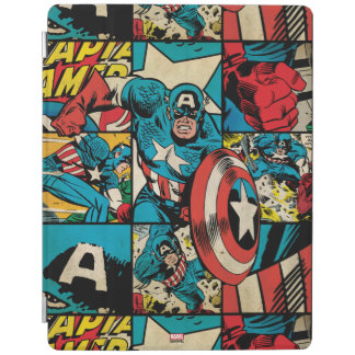 Captain America Retro Comic Book Pattern iPad Cover