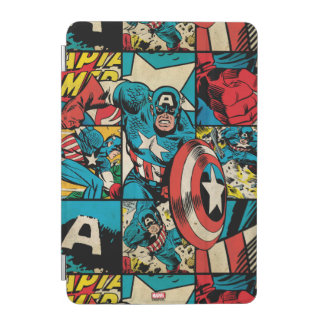 Captain America Retro Comic Book Pattern iPad Mini Cover