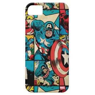 Captain America Retro Comic Book Pattern iPhone 5 Case