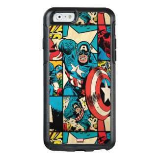 Captain America Retro Comic Book Pattern OtterBox iPhone 6/6s Case