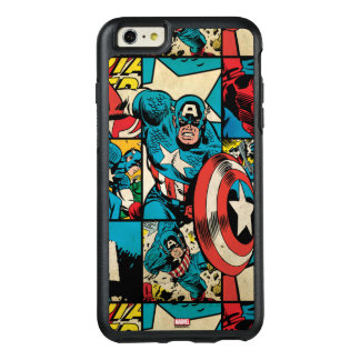 Captain America Retro Comic Book Pattern OtterBox iPhone 6/6s Plus Case