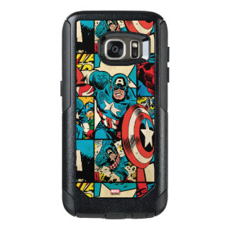 Captain America Retro Comic Book Pattern OtterBox Samsung Galaxy S7 Case