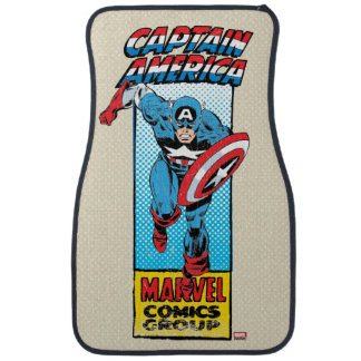 Captain America Retro Comic Character Car Mat