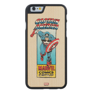 Captain America Retro Comic Character Carved Maple iPhone 6 Case
